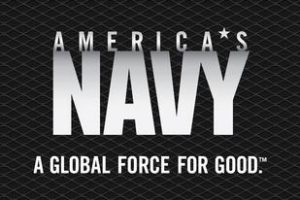 Logo for the U.S. Navy. Fredricks Communications coordinated public relations for Fargo Navy Week in 2011, an event managed by the U.S. Navy Office of Community Outreach.