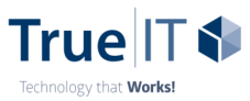 Logo of True|IT, and information technology business and Fredricks Communications client