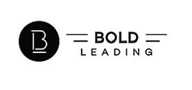 "Logo for Bold Leading, an executive coaching business for non-profit leaders based in Grand Forks, ND. Fredricks Communications helped create the organization's tagline, ""Be Bold,"" and wrote SEO content for its website."