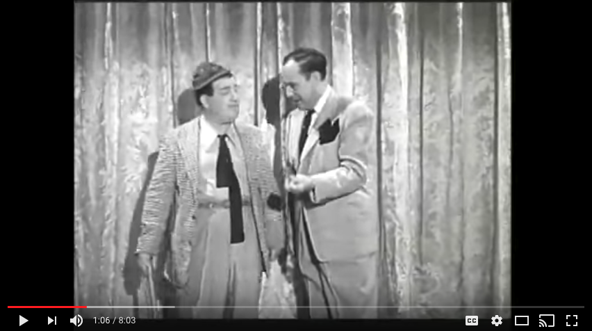 "Screenshot of Abbott & Costello, ""Who's on First,"" YouTube"