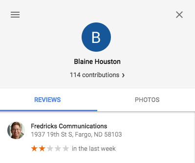 Google Rating Screenshot