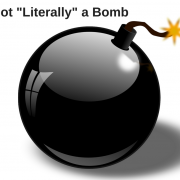 Graphic of a cartoon bomb