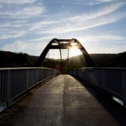 A bridge at sunrise