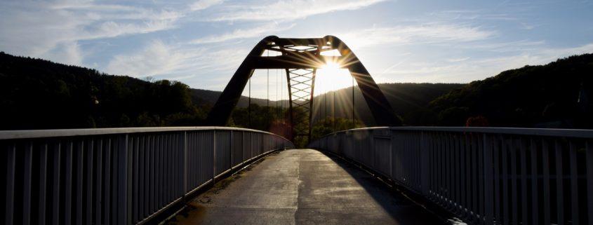A bridge at sunrise