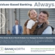 "BankNorth print ad - ""Values-Based Banking. Always."""
