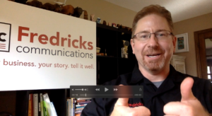 Screenshot of Martin Fredricks doing vlog post