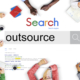 Stock image for outsourcing