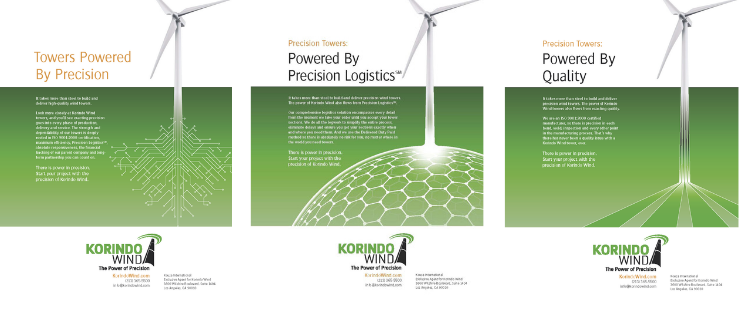 Fredricks Communications created these ads for Korindo Wind