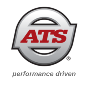 ATS (Anderson Trucking Service) logo and tagline
