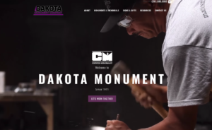 Screen capture from Dakota Monument website