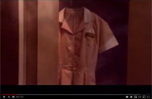 "Screenshot of 30-second TV spot, ""Dead Uniform"" created for smoking cessation efforts"