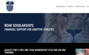 Screenshot of Lions United ROAR Scholarship webpage