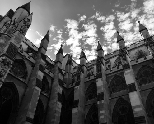 """Westminster Cloud Spires"" image by Martin C. Fredricks IV"