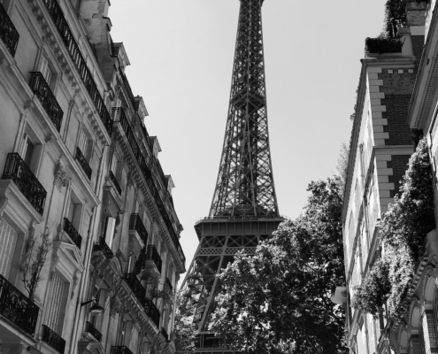 """Neighbors"" – image of Eiffel Tower by Martin C. Fredricks IV"