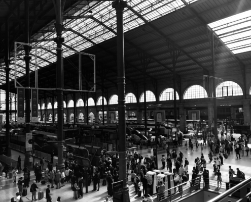 """Gare du Nord"" image by Martin C. Fredricks IV"