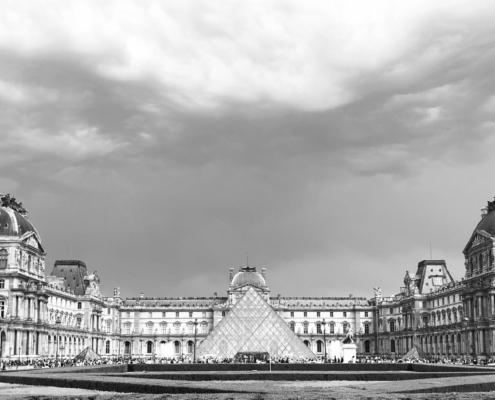 """Stormy Louvre"" image by Martin C. Fredricks IV"
