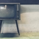 Image of a 1950s or '60s era television