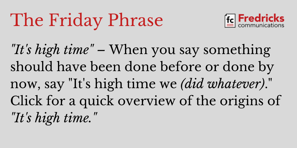 The Friday Phrase, 5-15-20