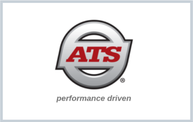 Graphic of Anderson Trucking Service (ATS) logo + tagline
